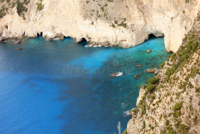 Keri Caves, Süd-Zante, Griechenland lizenzfreies stockfoto