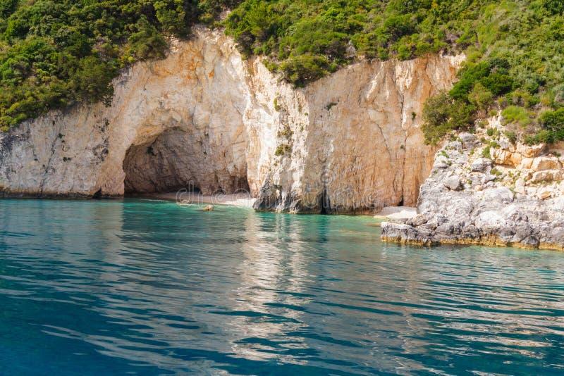 Keri-Höhlen auf Zakynthos stockbilder
