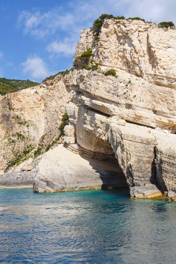 Keri-Höhlen auf Zakynthos stockfotografie