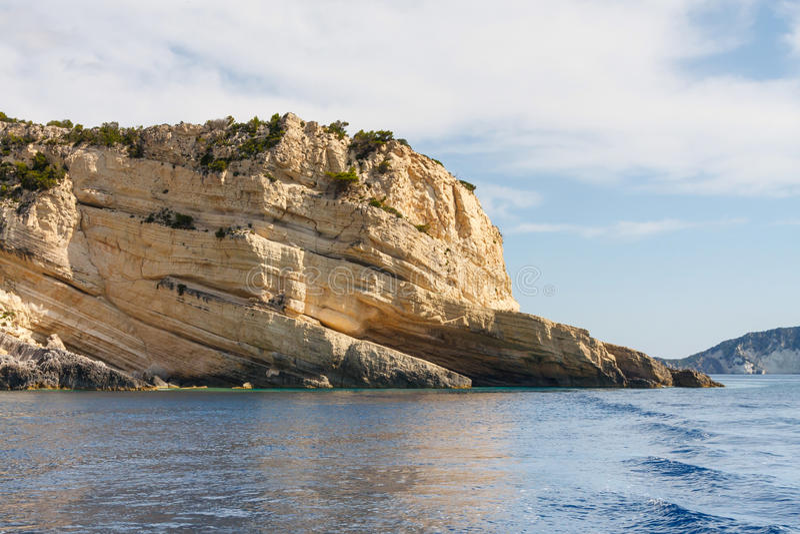 Keri-Höhlen auf Zakynthos lizenzfreies stockfoto
