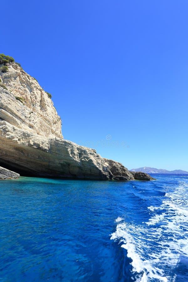 Keri-Höhlen auf Zakynthos-Insel lizenzfreie stockbilder