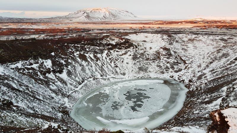 kerid кратера вулканическое стоковая фотография rf