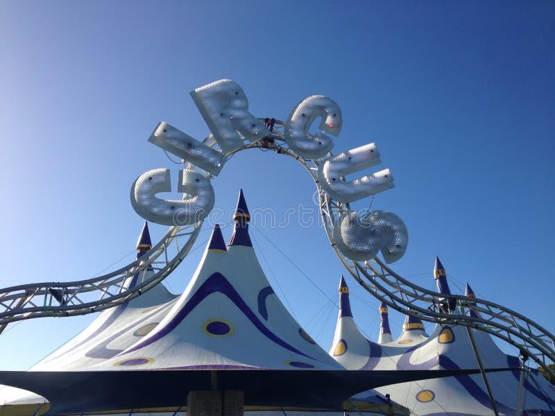 Kerikeri Nya Zeeland NZ - Maj 7, 2017: Stor överkant för cirkus på en su arkivfoto