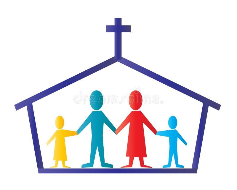Kerk stock illustratie