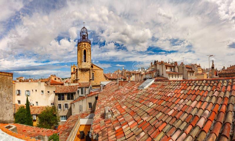 Kerk in Aix-en-Provence, Frankrijk royalty-vrije stock afbeeldingen