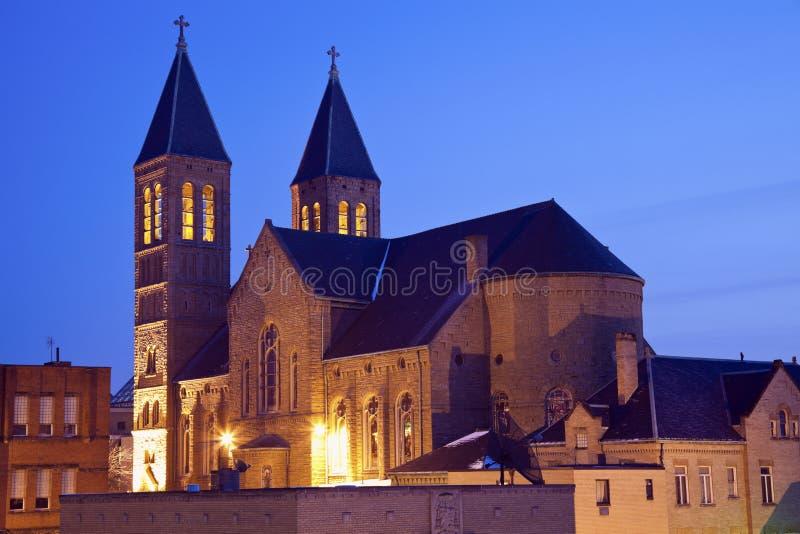 Kerk in Akron van de binnenstad royalty-vrije stock afbeelding