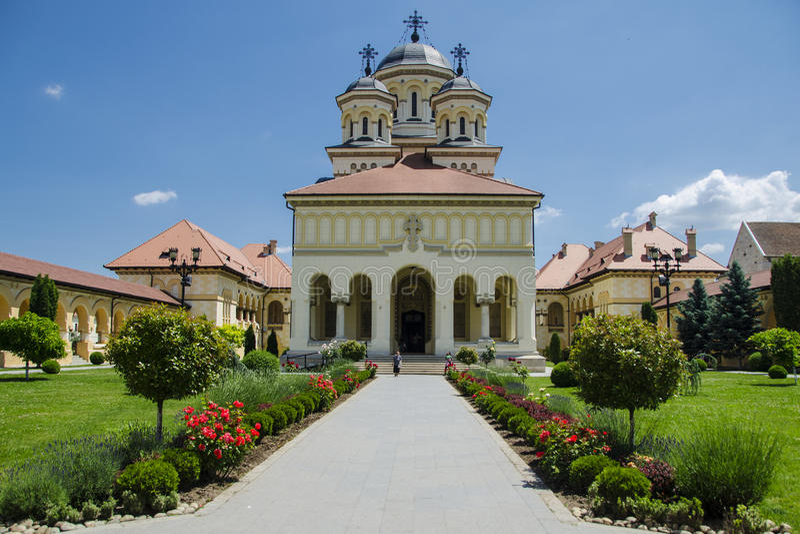 Kerk in Alba Iulia royalty-vrije stock afbeelding