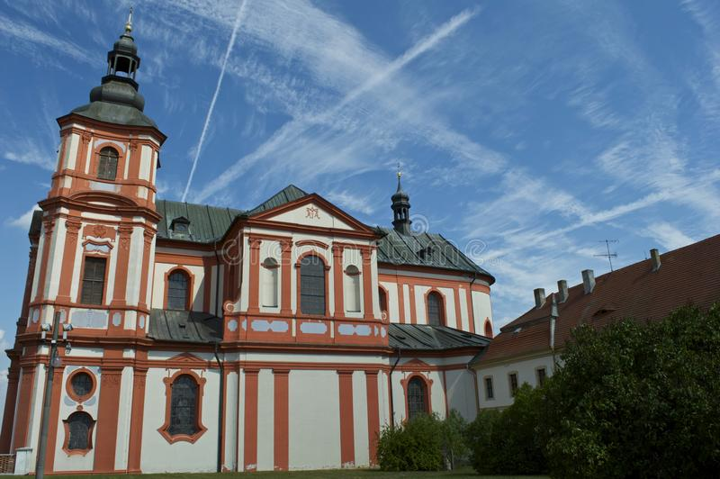 Kerk in barokke stijl royalty-vrije stock afbeeldingen