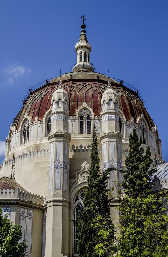 Kerk, Beeld van de stad van Madrid, zijn kenmerkend architec royalty-vrije stock afbeelding