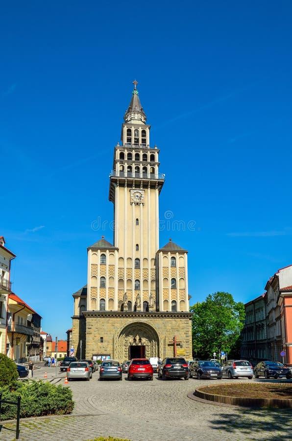 Kerk in bielsko-Biala, Polen royalty-vrije stock foto
