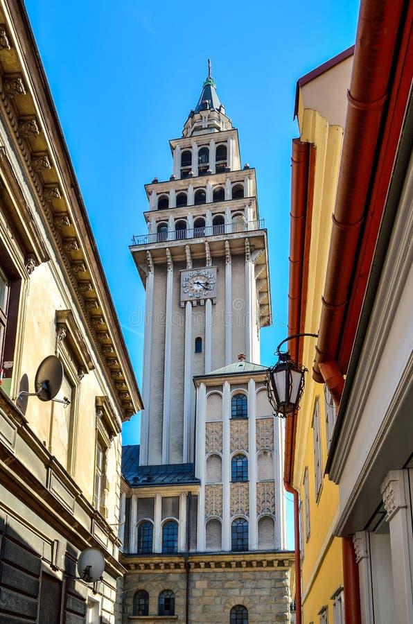Kerk in bielsko-Biala, Polen stock foto's