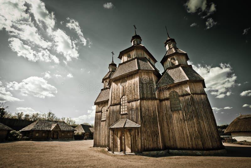 Kerk bij Khortytsia-eiland royalty-vrije stock afbeeldingen