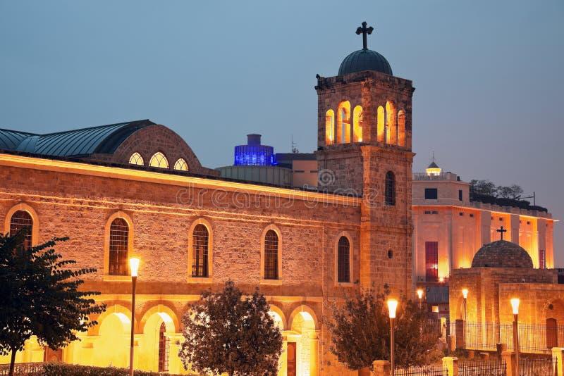Kerk binnen de stad in van Beiroet royalty-vrije stock fotografie