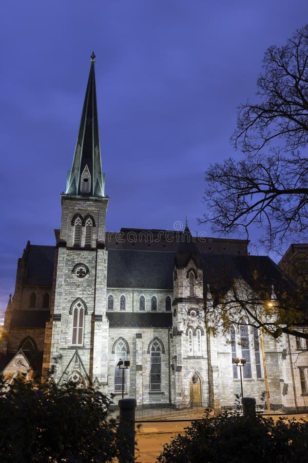 Kerk binnen de stad in van Harrisburg royalty-vrije stock fotografie