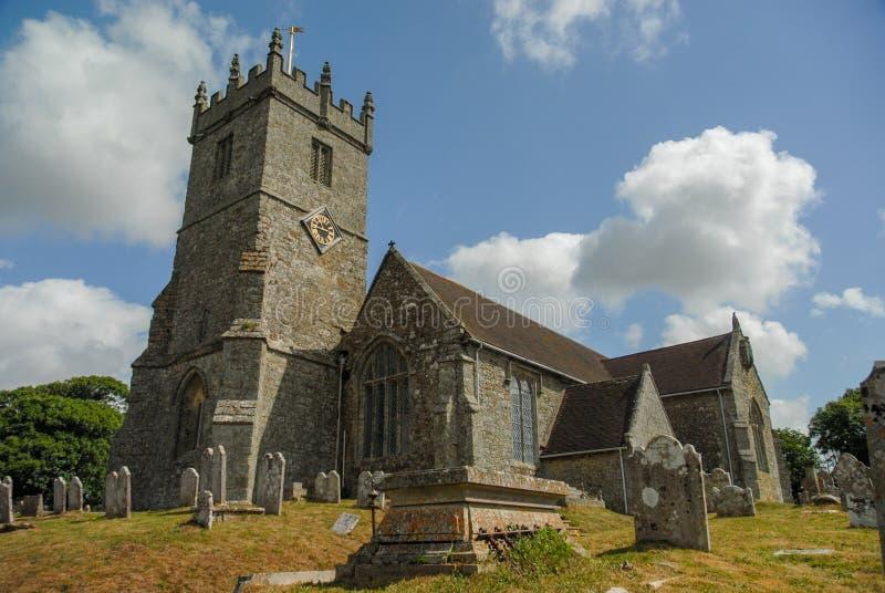 Kerk builidng en begraafplaats in Kent het UK royalty-vrije stock afbeelding