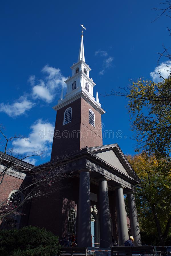 Kerk in Cambridge stock afbeelding