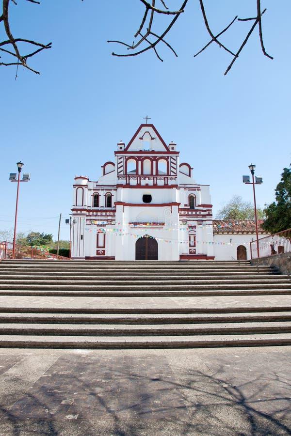 Kerk in Chiapa DE Corzo, Mexico stock foto