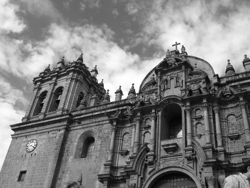 Kerk in Cuzco stock foto's