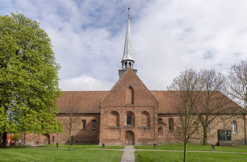 Kerk in de Deense stad Aabenraa stock afbeeldingen