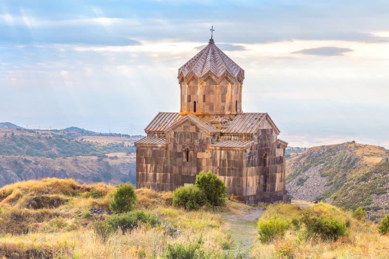 Kerk in de wolken armenië royalty-vrije stock afbeeldingen