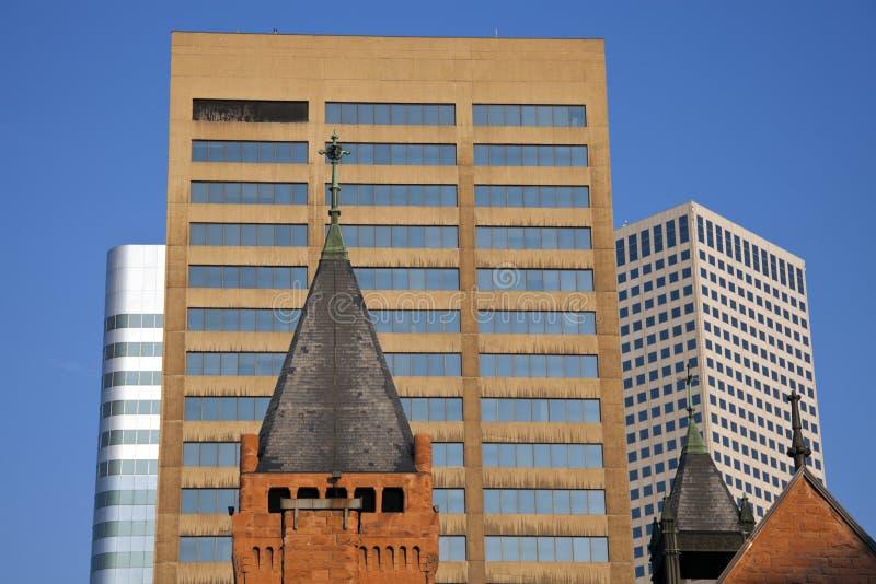 Kerk in Denver van de binnenstad royalty-vrije stock afbeeldingen