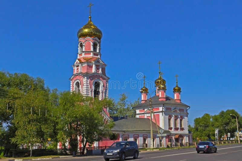 Kerk in dmitrov stock foto's