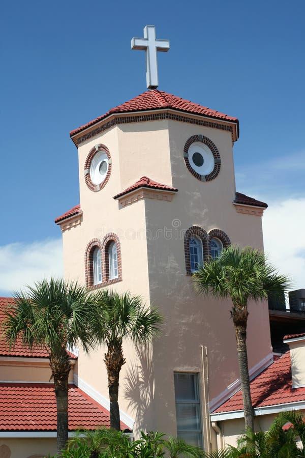 Kerk door het Overzees stock foto