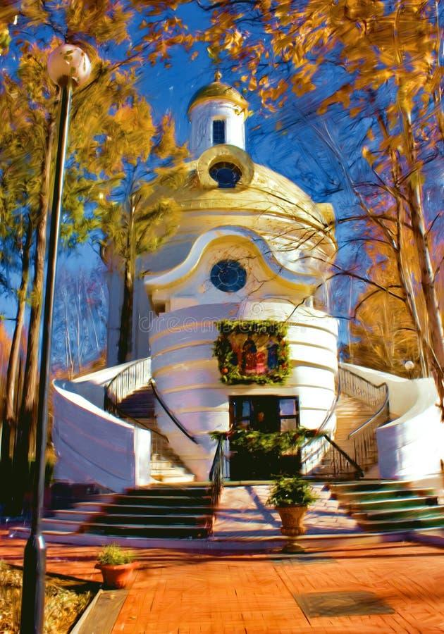 Kerk door olie royalty-vrije stock foto
