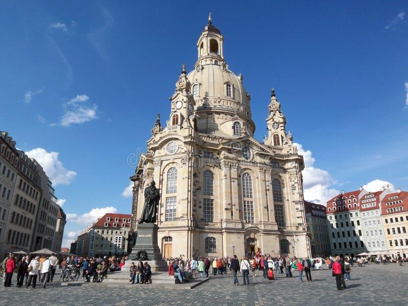 Kerk in Dresden stock afbeeldingen