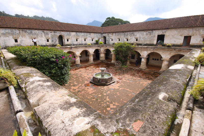 Kerk en Klooster van Las Capuchinas, Antigua royalty-vrije stock afbeelding