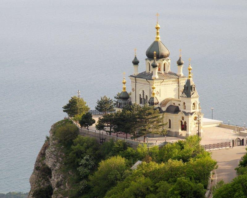 Kerk in Foros. De Krim royalty-vrije stock foto