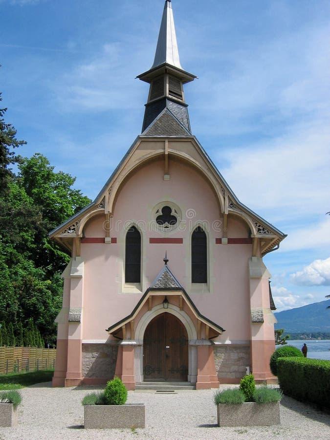 Kerk in Genève, Zwitserland stock afbeelding