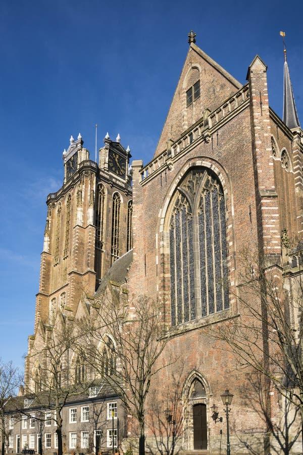 Kerk geroepen Grote Kerk, Dordrecht, Nederland royalty-vrije stock afbeelding