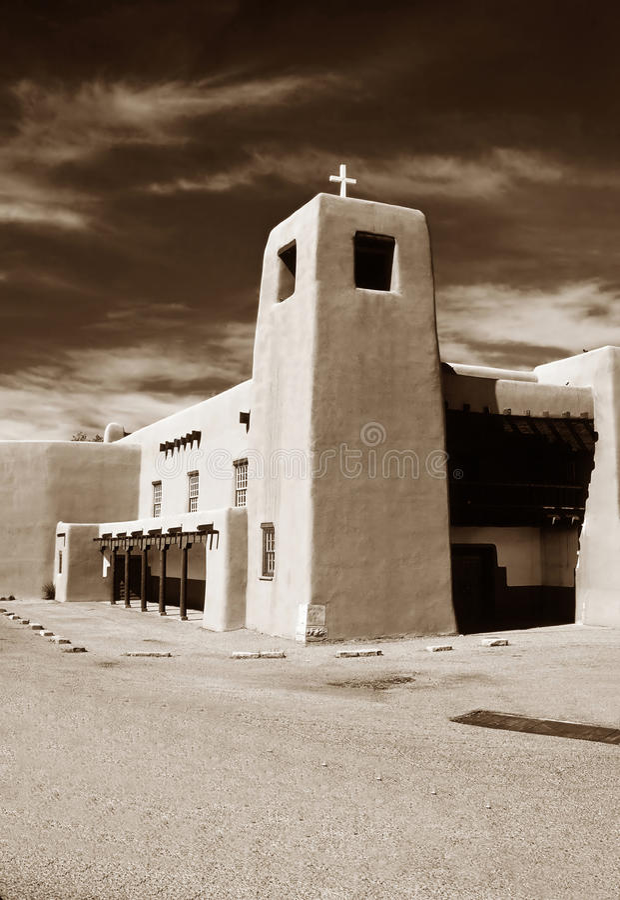 Kerk Gr Christo Rey stock foto