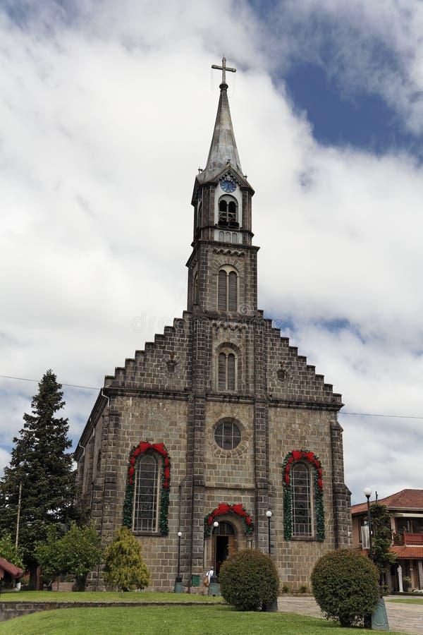 Kerk in Gramado stock afbeeldingen