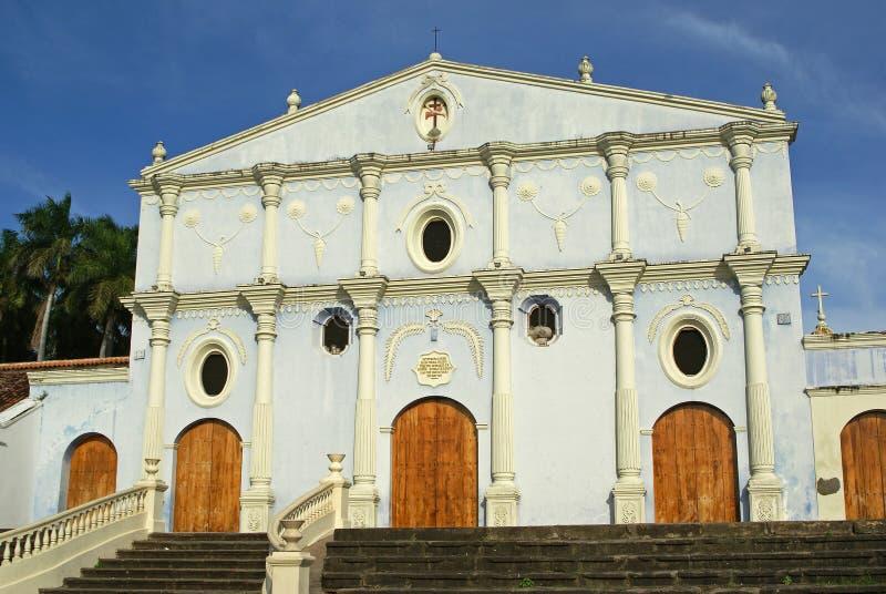 Kerk, Granada, Nicaragua stock afbeelding