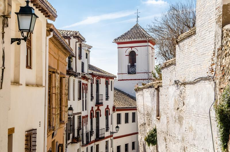 Kerk in Granada, Spanje stock foto