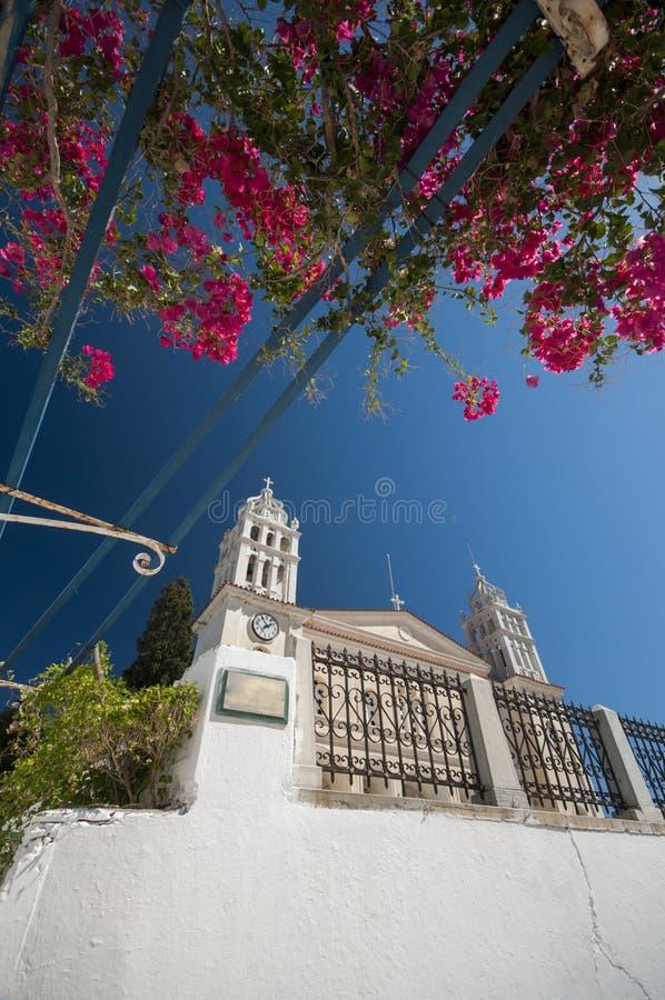 Kerk in Griekenland stock afbeeldingen