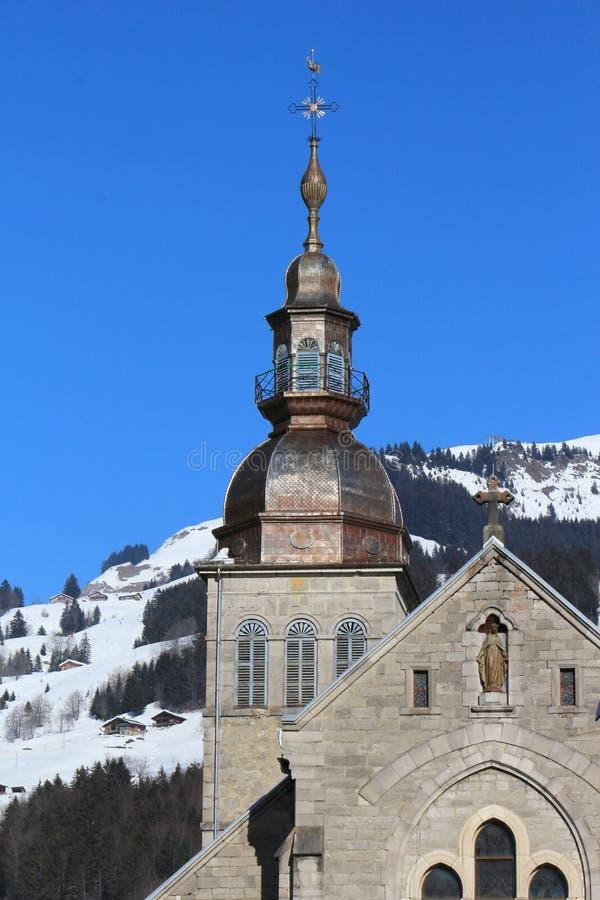 Kerk, groot-Bornand, Frankrijk royalty-vrije stock fotografie