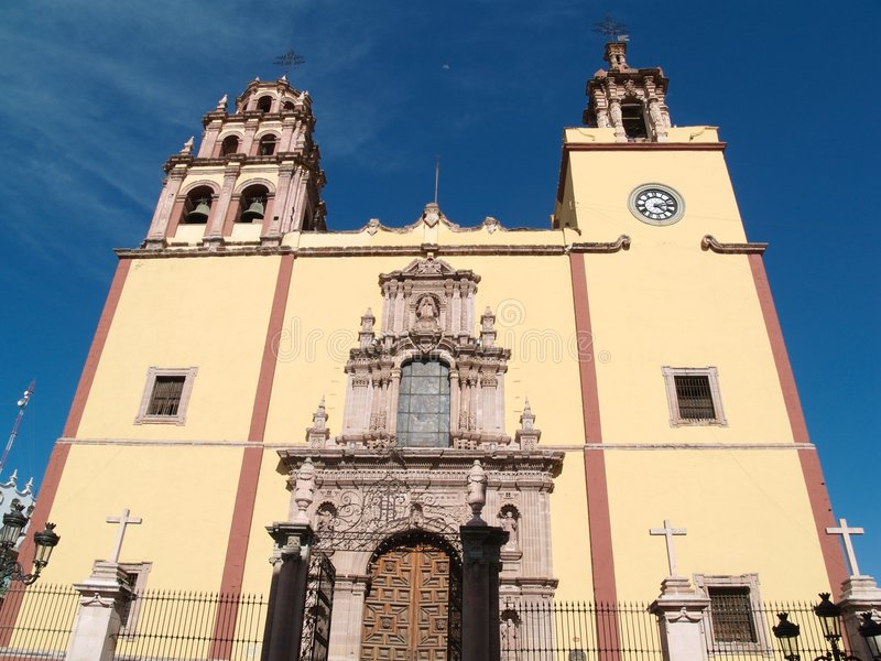 Kerk in Guanajuato, Mexico stock afbeelding