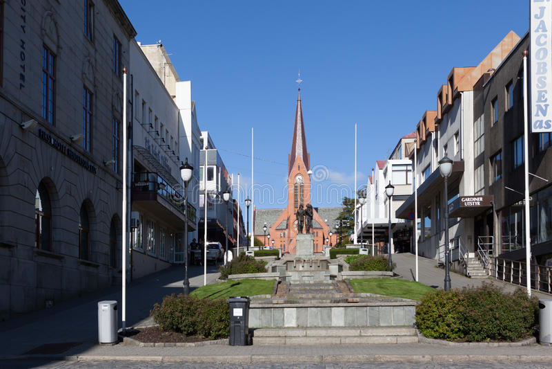 Kerk Haugesund noorwegen royalty-vrije stock afbeelding