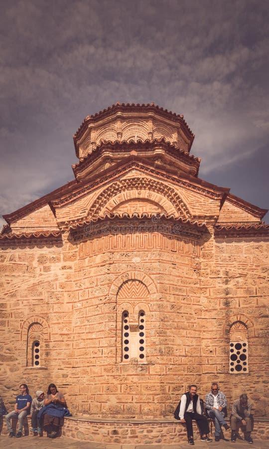 Kerk in Heilig Klooster van Varlaam stock afbeeldingen