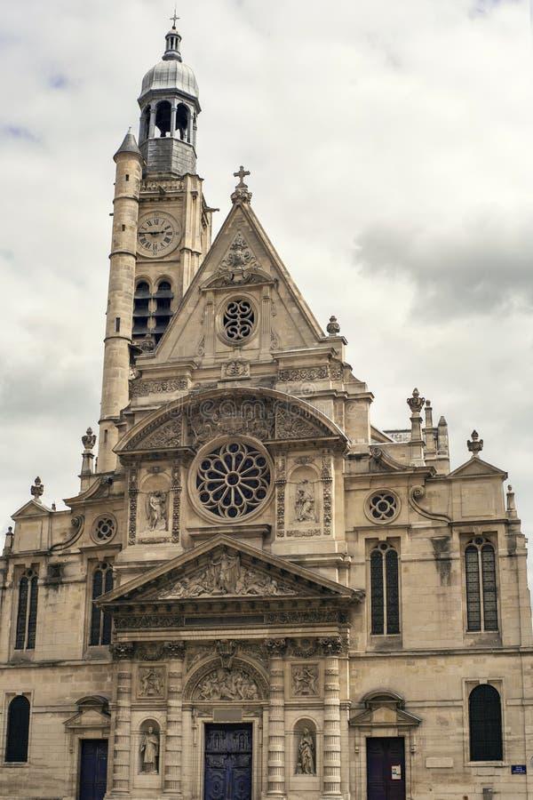 Kerk Heilige Étienne du mont in Parijs stock foto