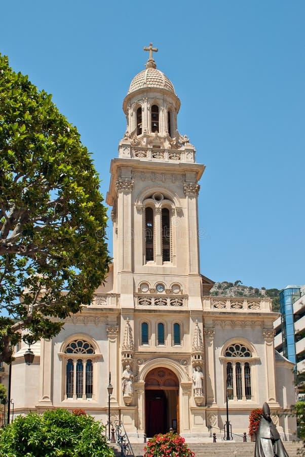 Kerk heilige-Charles in Monaco stock foto