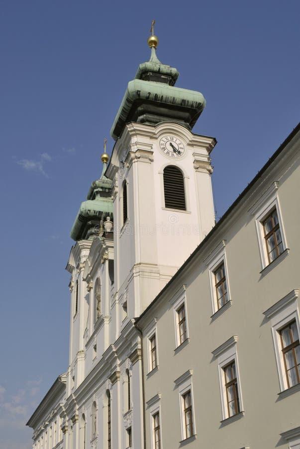 Kerk Heilige Ignatius in Gyor, Hongarije royalty-vrije stock foto's