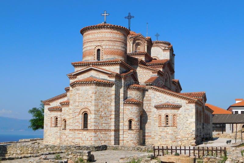 Kerk Heilige Mild van Ohrid royalty-vrije stock afbeeldingen
