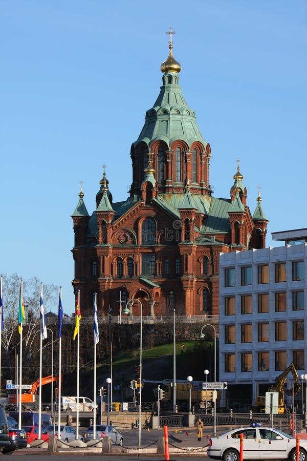 Kerk in Helsinki royalty-vrije stock foto