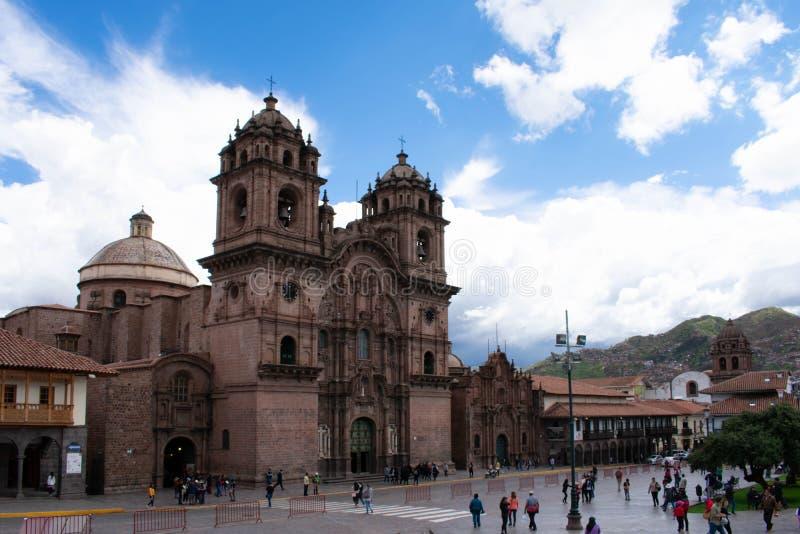 Kerk in het bedrijf van Jesus, Cusco, Peru, 02-06-2019 stock fotografie