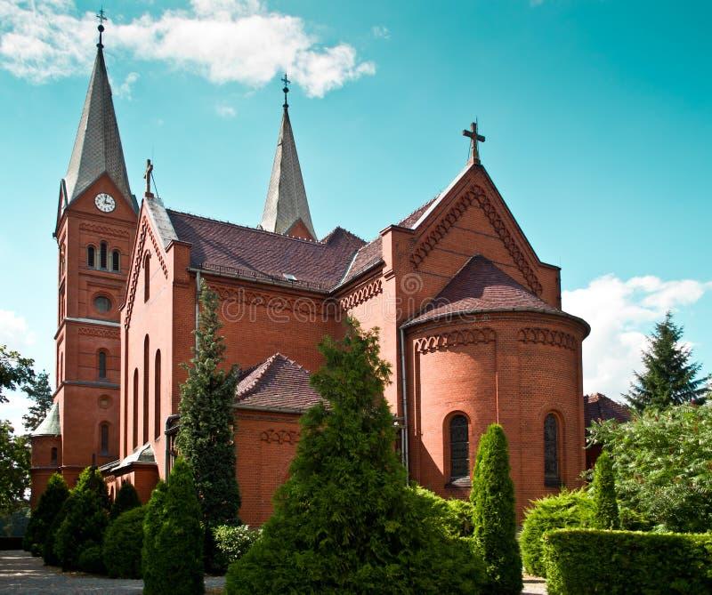 Kerk in het dorp Wysoka royalty-vrije stock foto