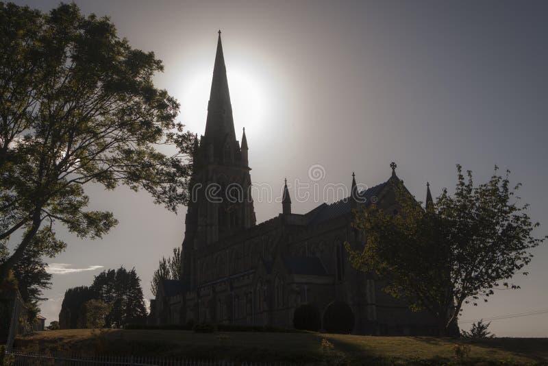 Kerk in het Gotische godsdienstige monument van Ierland Buitenvoorgevel stock afbeelding